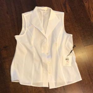 Vneck sleeveless dress blouse